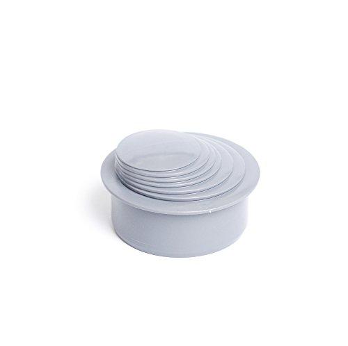 Reduzierstück Adapter Fallrohrfilter Regenrohrfilter 63-110mm KG/HT Rohr (Hellgrau)