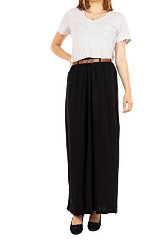 VERO MODA Damen VMLINN Belt Ankle Skirt NOOS Rock, Black, M