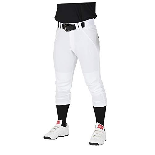 Rawlings(ローリングス) 4Dウルトラハイパーストレッチパンツ レギュラー(マーク有り、ひざ2重加工) 野球ズボン(パンツ) 大人用 練習用 APP9S02 ホワイト M