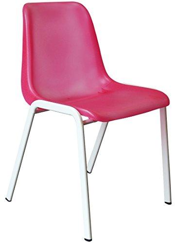 Designer Besucherstuhl Esszimmerstuhl Praxisstuhl Stühle weiss, pink, grün, blau, orange, lila (icy-pink (transparent pink))