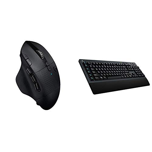 Logitech G604 Lightspeed Wireless Gaming Mouse Bundle with Logitech G613Lightspeed Wireless Mechanical Gaming Keyboard, Multihost 2.4 GHz + Blutooth Connectivity (Renewed)