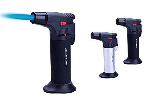 GrecoShop Torcia/Minitorcia/Bruciatore a Gas Ricaricabile con Base Ventosa