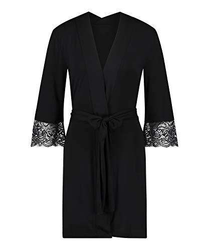 HUNKEMÖLLER Kimono Vera Lace Gr. XL/XXL, Black [173570]