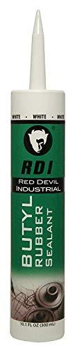 Red Devil 06970I Rd Pro Butyl Rubber Sealant, White, 10.1 Oz, 1 Pack