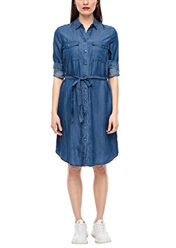 s.Oliver Damen Hemdkleid aus Light Denim Blue 36