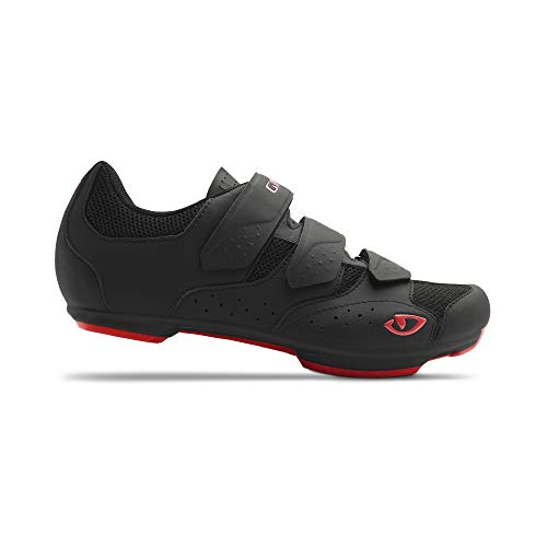Giro Unisex– Erwachsene Rev Rennrad Schuhe, Black/Bright red, 43