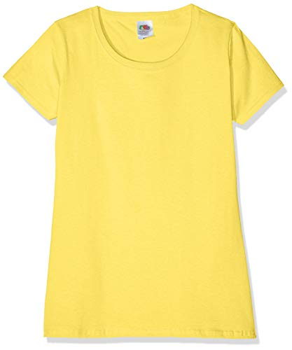 Fruit of the Loom Valueweight T-Shirt 3 Pack, Giallo (Yellow K2), 46 Donna