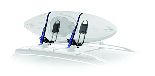 Transparent kayak shows kayak rack features