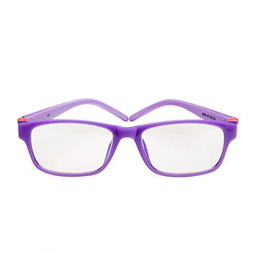 PROSPEK - KIDS COMPUTER BRILLEN: Anti Blaulicht Brillen für Kinder ab 4 Jahren (Moviestar - Lila)