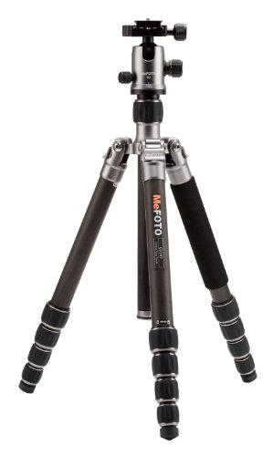 MeFOTO GlobeTrotter 64.2' Carbon Fiber Travel Tripod/Monopod w/Case, Twist Locks,...