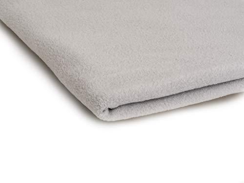 Telas Polar tela de lana, prendas de punto 200 g/m² - Disponible en una variedad de colores - 50 x 160 cm (Gris claro)
