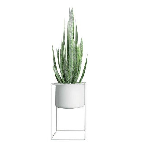 CSQ Stand de plantes d'intérieur, Creative Iron Art Fleur Pot Cadre Blanc Étage Lieu Salon Chambre Bureau d'étude Étanche Antirouille Étagère à fleurs (Size : 30 * 30 * 50CM)