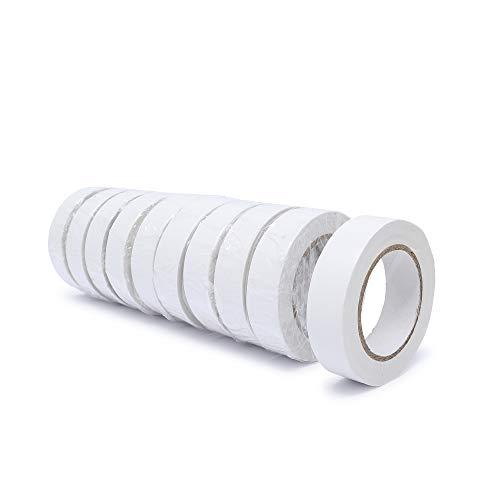 gws PVC-Elektro Isolierband | Universell einsetzbares professionelles Klebeband | Für den Innen- und Außenbereich | Weich-PVC und Naturkautschukkleber RESTPOSTEN (10, weiß | 10 m x 15 mm)