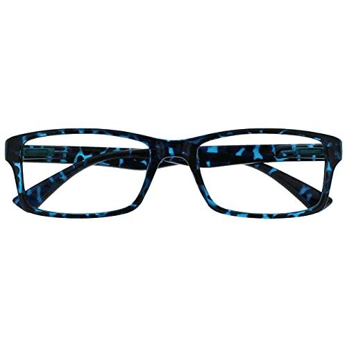 The Reading Glasses Blau Schildpatt Kurzsichtig Fernbrille Für Kurzsichtigkeit Designer Stil Herren Frauen M92-3 -1,00