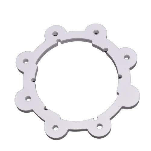 Keepet Barret Collare per Cani – Collare antifuga per Cani – Collari educativi Senza impulsi elettrici – XXS, XS, S, M, L (35-39 cm, Bianco)