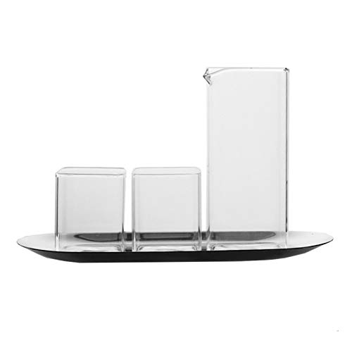 HIUYOO Kristallgläser Whisky Wasserglas Espresso (120 ML/4 OZ) Transparent 5x6 cm