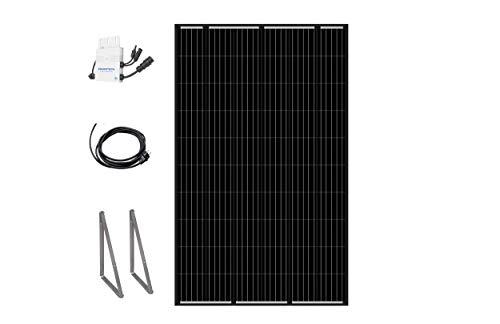 """Home-Solar-Modul 320 Wp\""""Full Black\"""", HSM320VE. Produziere eigenen Strom mit unserem hochwertigen Balkonkraftwerk (HSM320 + ohne Ständer + Anschlusskabel\""""Schuko\"""" 5m)"""