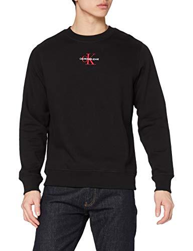 Calvin Klein Jeans New Essential Crew Neck Nuovo ICONICO Essenziale Girocollo, CK Nero, L Uomo