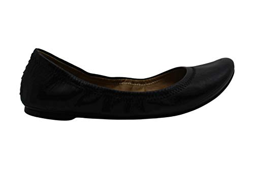 Lucky Brand Womens Erin Leather Closed Toe Ballet Flats, Black, Size 7.5