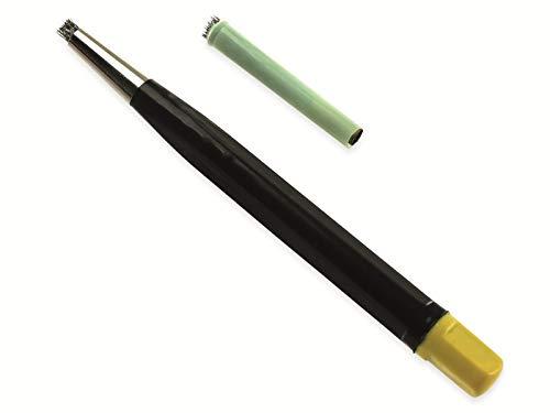 Rostradierer-Stift mit Ersatzbürste, Stahl, 120 mm