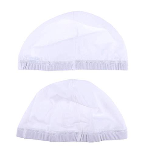 Lot de 2 caches Perruque de Spandex, unisexe, hip-hop Style extensible élastique Chaussette de dôme Bonnet de perruque
