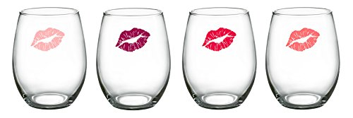 Luminarc Girlfriends Stemless Wine Glasses (Set of 4), 15 oz