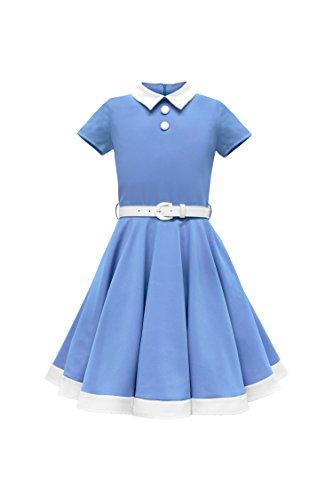 BlackButterfly Niñas 'Lucy' Vestido Clarity Vintage Años 50 (Azul, 13-14 Años)