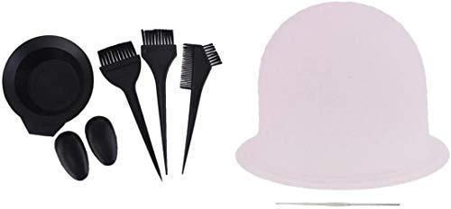 1 accessoire réutilisable pour mettre en évidence les cheveux en silicone avec crochet en métal + brosse à colorier