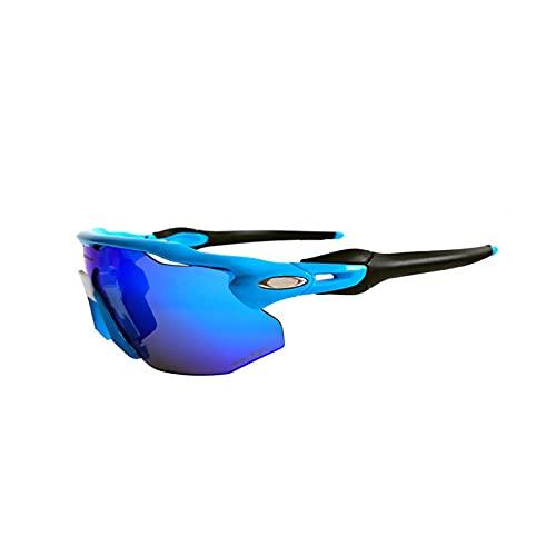 YLJY Gafas Ciclismo,Gafas Sol Polarizadas Ciclismo,con 4 Lentes Intercambiables para Hombres y Mujeres,Bicicleta de Carretera,Bicicleta de montaña,Gafas de béisbol,Correr,Pescar,Golf
