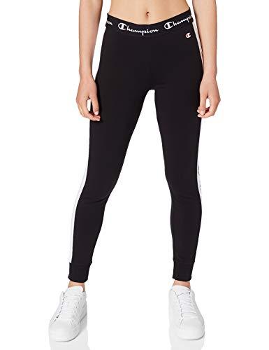 Champion Damen Seasonal AC Logo Slim Crop Pants Hose, Black, M