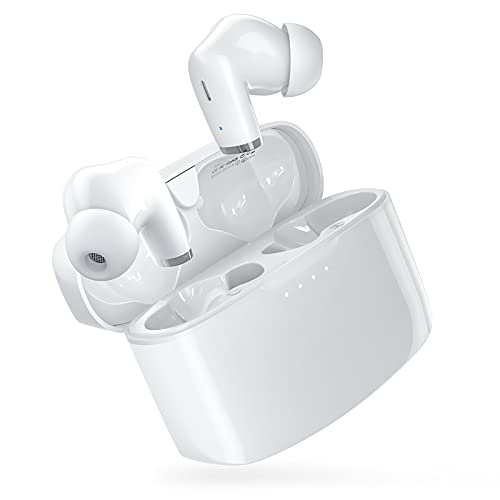 Wireless Earbuds E90 with Extra Deep Bass, IPX8 Waterproof Stereo Headphones, in Ear Built in Mic Bluetooth Earbuds, Touch Control Headset with Type-C Fast Charge