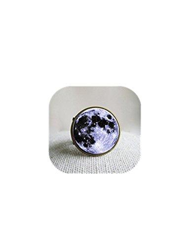 Full Moon Anillos Punk gypsyrings de la Madre Regalo Galaxy Nebula Anillos...