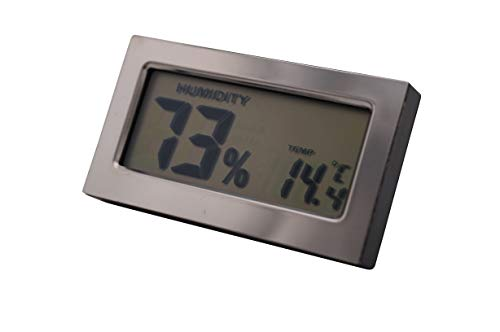GERMANUS Kalibrierbarer Digitaler Hygrometer für Humidor, Digital - Rechteckig 389