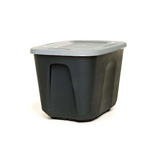 HOMZ 10 Gallon EcoStorage Container Black Base, Silver Lid, 4 Pack