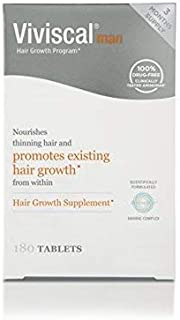 180 3 Month Supply man hair growth tablets