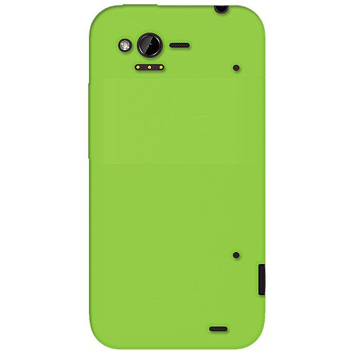 Amzer AMZ92526 Green Silicone Jelly Skin Fit Cover Case for HTC Rhyme - Retail Packaging - Green