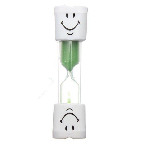 Romote enfants Brosse à dents minuterie 2 minutes Smiley sable minuterie pour les dents de Brushing enfants (vert)