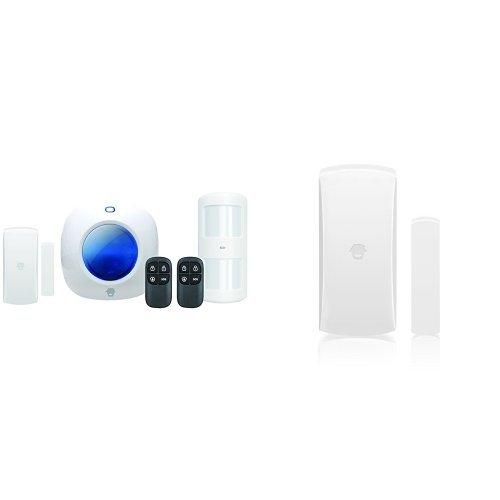 CHUANGO CG-105S - Kit sistema de alarma, sirena incluida, ampliable hasta 40 sensores, inalámbrica + DWC-102 - Alarma para el hogar