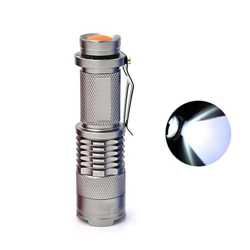 ENOSTORE Mini linterna portátil con zoom de mano, luz al aire libre, ultra brillante, impermeable, linterna LED, linterna de 3 modos (color emisor: FL008)
