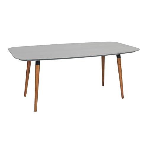 greemotion Gartentisch Bern-Esstisch grau & braun für Garten, Terrasse & Balkon rechteckig, Tischbeine Akazie massiv-Tisch mit Tischplatte in Beton Optik, Grau, 21,2 x 10,3 x 1,3 cm