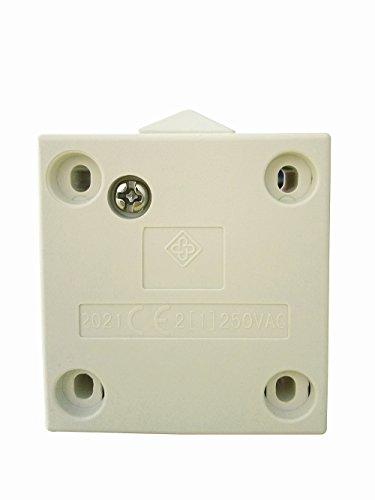 Interruptor de la puerta / [1Pack] SFTlite blanca Empuje de superficie para romper la luz de puerta del interruptor del empuje 2A 250V para romper interruptor eléctrico de embutir