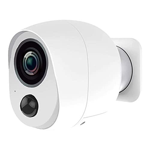 SFLRW Cámara de seguridad inalámbrica al aire libre, batería recargable alimentada 108 0P HD WiFi de vigilancia inteligente sin alambre IP Cámaras para el hogar para Pet Cat Dog Cam con Visión Nocturn