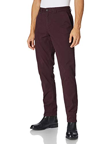 Scotch & Soda Herren MOTT Hose, 3499 Bordeaubergine, 38W / 36L
