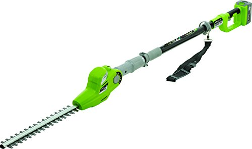 Best Prices! Earthwise LPHT12417 17-Inch 24-Volt Lithium Ion Cordless Electric Pole Hedge Trimmer