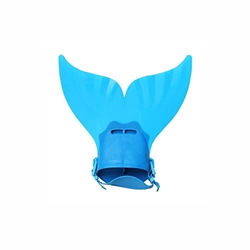 Aletas de Sirena de Aleta Naiant Ajustable Buceo Bucka Swim Swim Fin Pie Luppers Deportes de Agua Zapatos de Entrenamiento (Color : Blue)