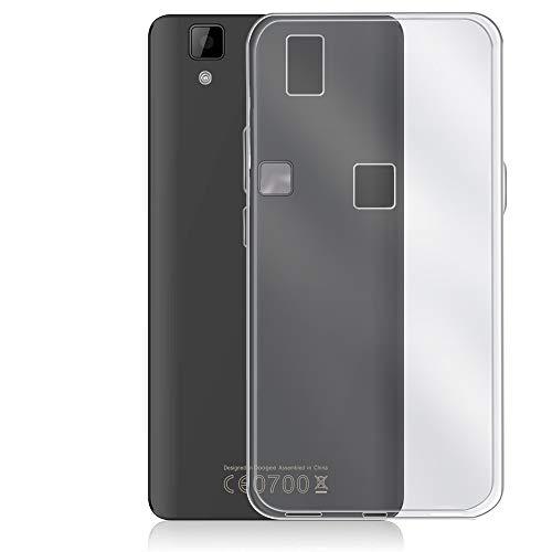 REY Funda Carcasa Gel Transparente para DOOGEE X5 MAX Pro, Ultra Fina 0,33mm, Silicona TPU de Alta Resistencia y Flexibilidad