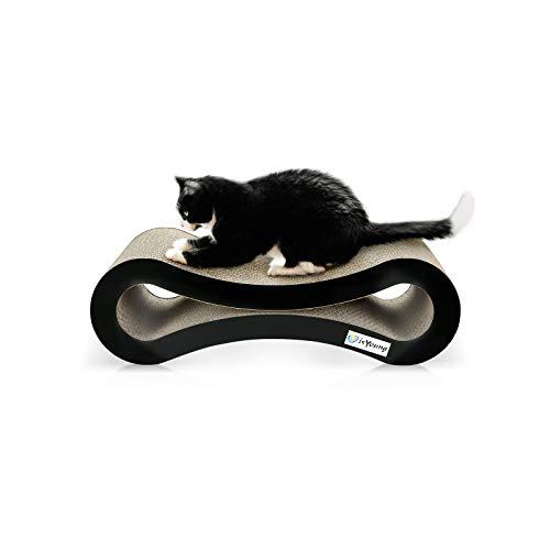 isYoung Katzen Kratzbrett, 51.5 * 25 * 17 cm Wellpapper Kartonschutz für Möbel Spielzeug - Halten Sie Katzen Spaß gesund