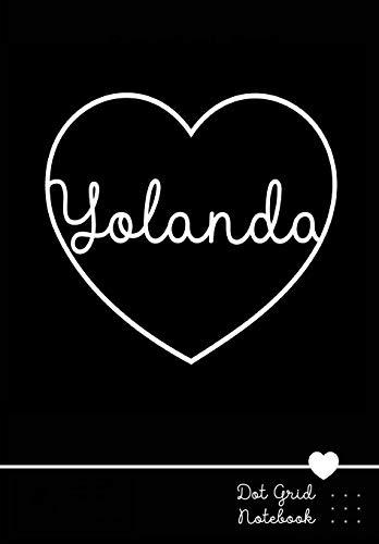 Yolanda Dot Grid Notebook: Personalized Heart Journal | Personalisiertes Herz Notizbuch