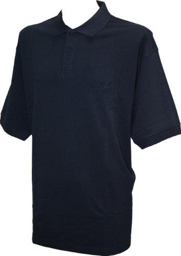 Perfect Collection Col Bouton à Manches Courtes Polo Bleu Marine