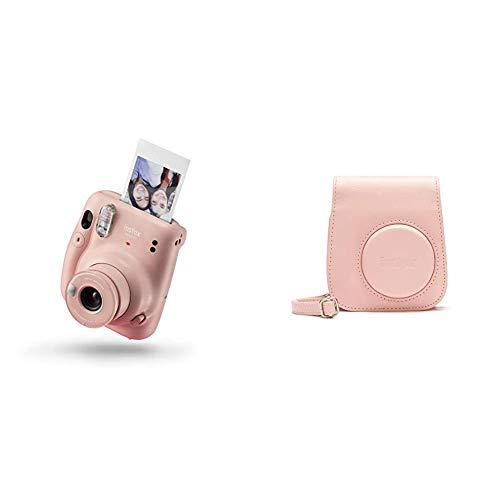 instax Mini 11 - Cámara instantánea, Blush Pink + Funda instax 70100146236 para Mini 11 - Blush Pink
